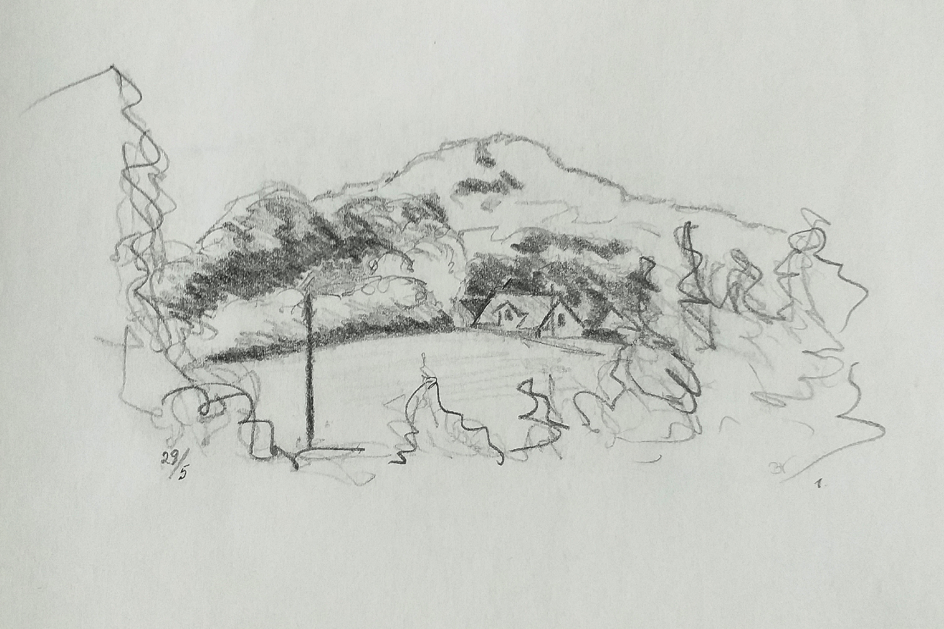 Brunshuse Helnæs 1989 2 min. tegning ©Kanobi®