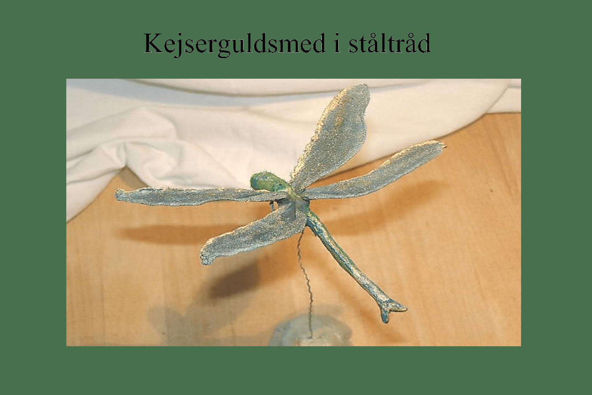 Flyvende insekter model ståltråd med fod ©Kanobi®
