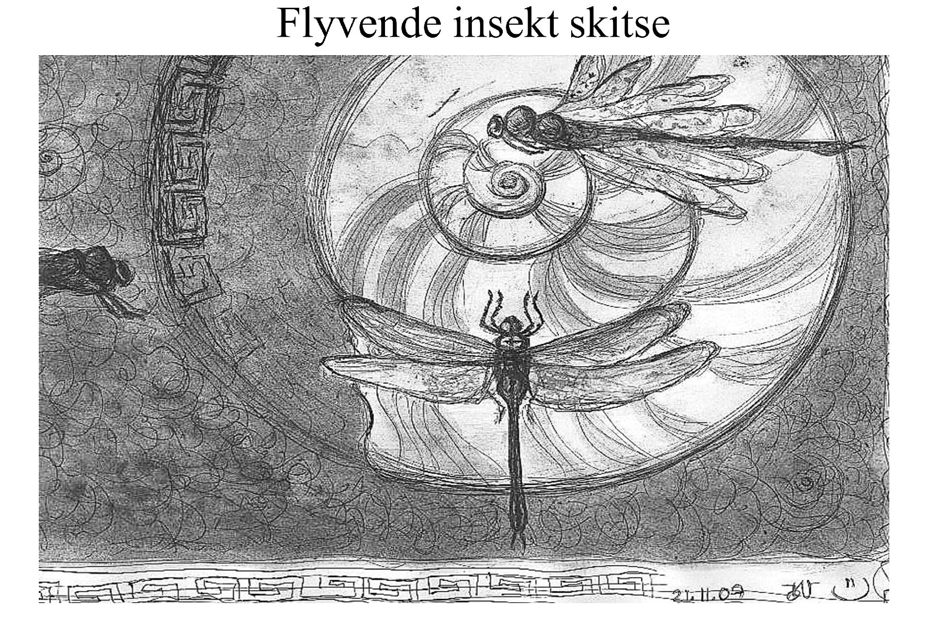 Flyvende insekter skitse blæk ©Kanobi®