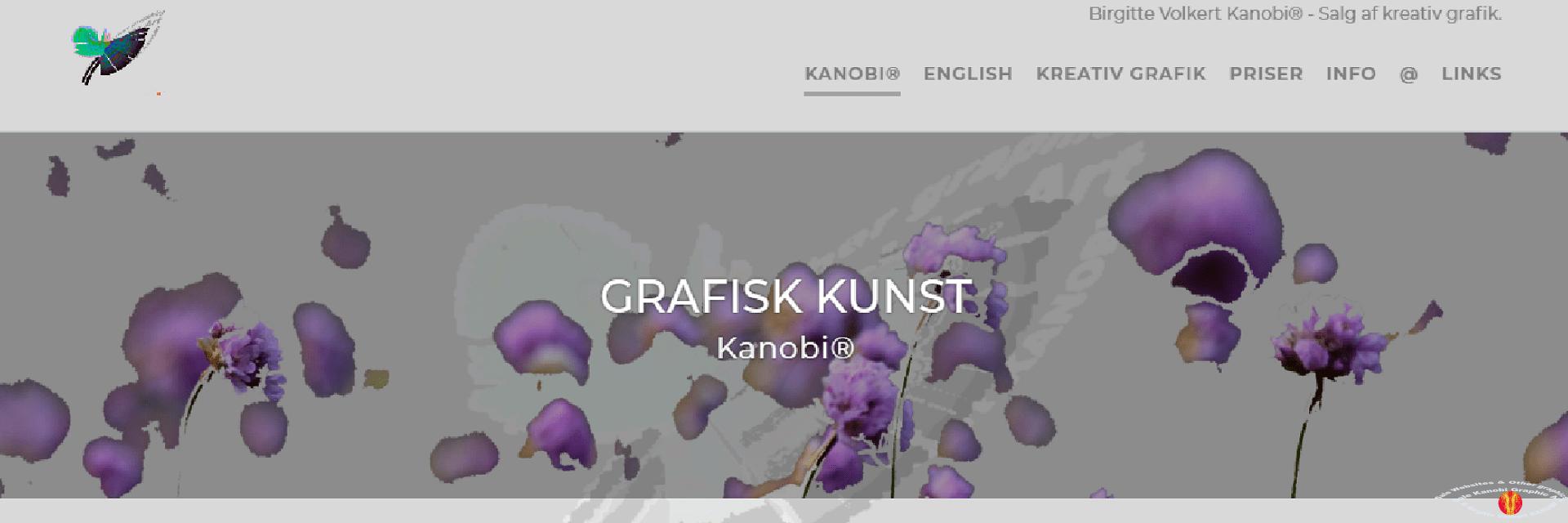 Link Birgitte Volkert Kanobi® frontpage screenprint.