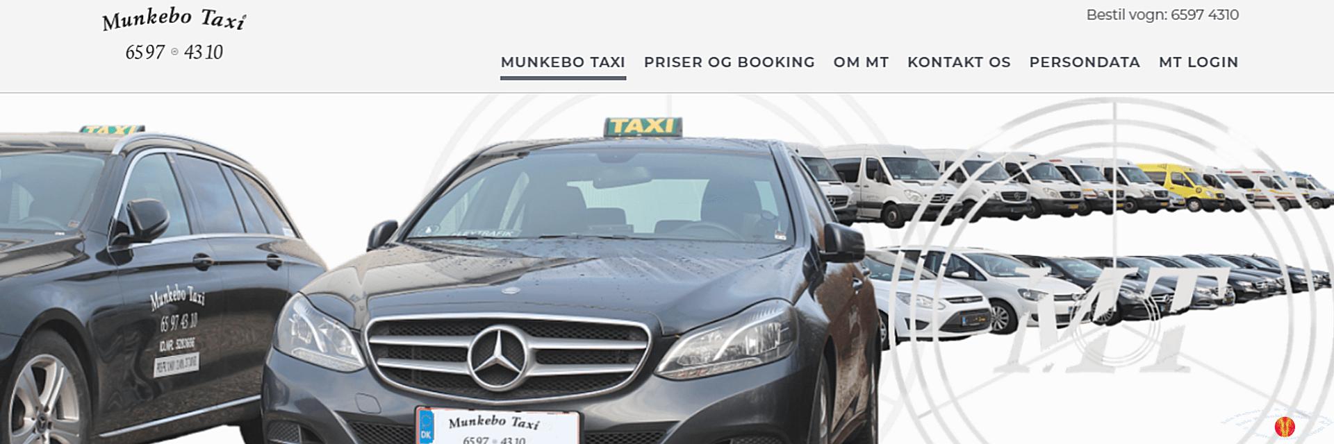 Link Munkebo Taxi Kanobi® frontpage screenprint.